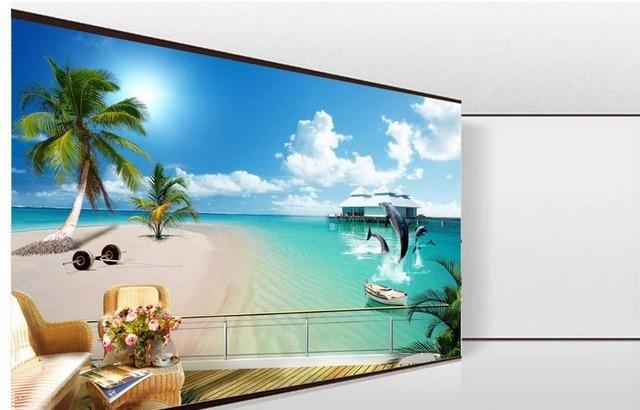 3d customized wallpaper 3d wallpaper Sea tree landscape backdrop