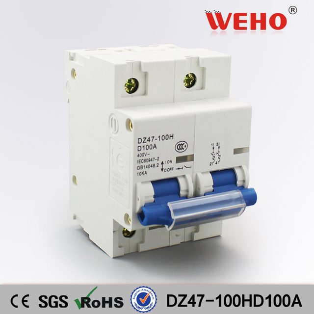 DZ47 100HD100A 2P China Factory C45 CE Electrical Mini Circuit ...