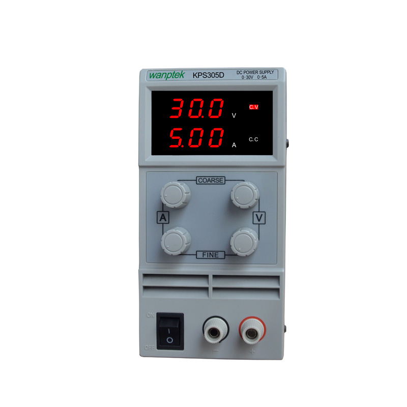 free shipping 305D Adjustable High precision double LED display switch DC Power Supply protection function 0