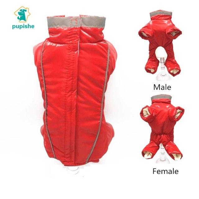 Impermeabile Pet Cani Cappotto di Inverno di Spessore Riflettente Cani Vestiti D