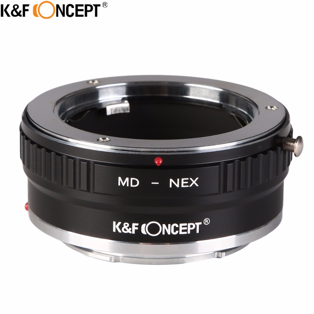 K&F CONCEPT MD-NEX II Camera Lens Adapter Ring For Minolta/KONICA MC MD Mount Lens to for Sony E Mount Body NEX NEX3 NEX5 NEX5N k&f concept for minolta af nex camera lens mount adapter ring for minolta af lens to sony nex e mount for nex 3c nex 5n nex 6
