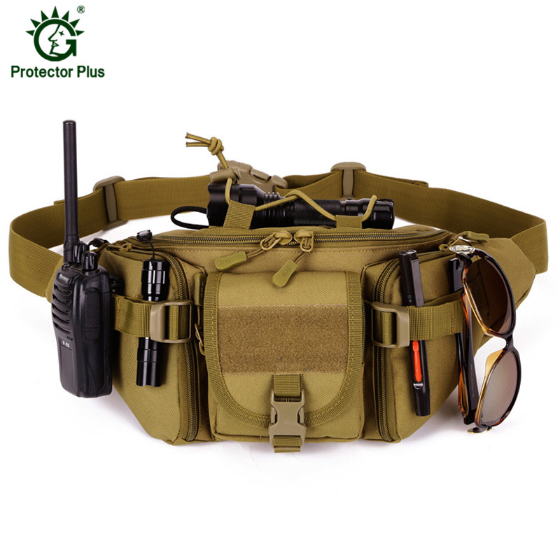 Waterproof Nylon Men Fanny Pack Tactical Military Army Waist Bag Hiking Outdoor Camping Shoulder Bum Belt Bum Sport Chest Bags