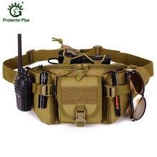цены Waterproof Nylon Men Fanny Pack Tactical Military Army Waist Bag Hiking Outdoor Camping Shoulder Bum Belt Bum Sport Chest Bags