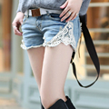 Sexy women jean lace shorts Denim Shorts Women Short Jeans Beach Summer Bandage Low-Waist shorts  25