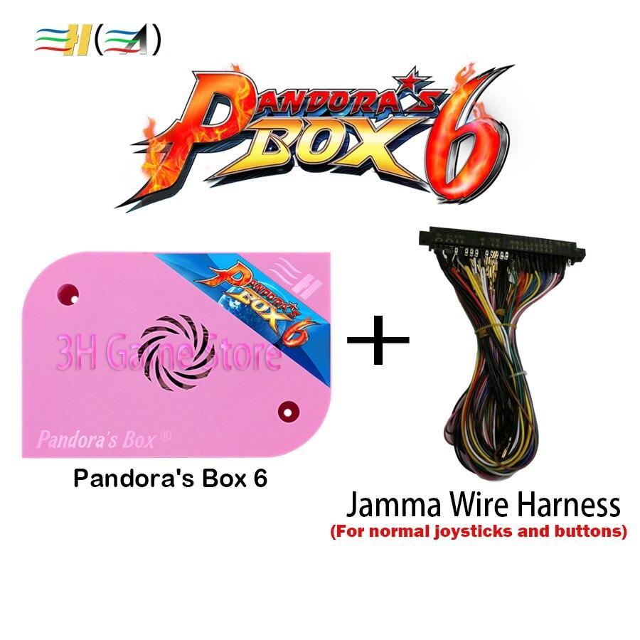 Caixa de Pandora originais 6 1300 em 1 máquina de arcade jamma gabinete arcade CGA CRT VGA HDMI apoio ps1 fba mame jogo 3d tekken pacman