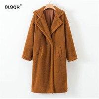 Women Faux Fur Teddy Coat Winter Thick Warm Fluffy Long Fur Coats Style Turn down Collar Jackets Overcoat Plus Size Outwear