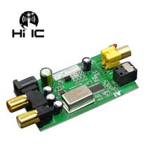 L12 de alta fidelidade digital decodificador de áudio dac digital/coaxial/entrada de sinal de fibra óptica módulo de sinal analógico saída rca/amplificador dc5v