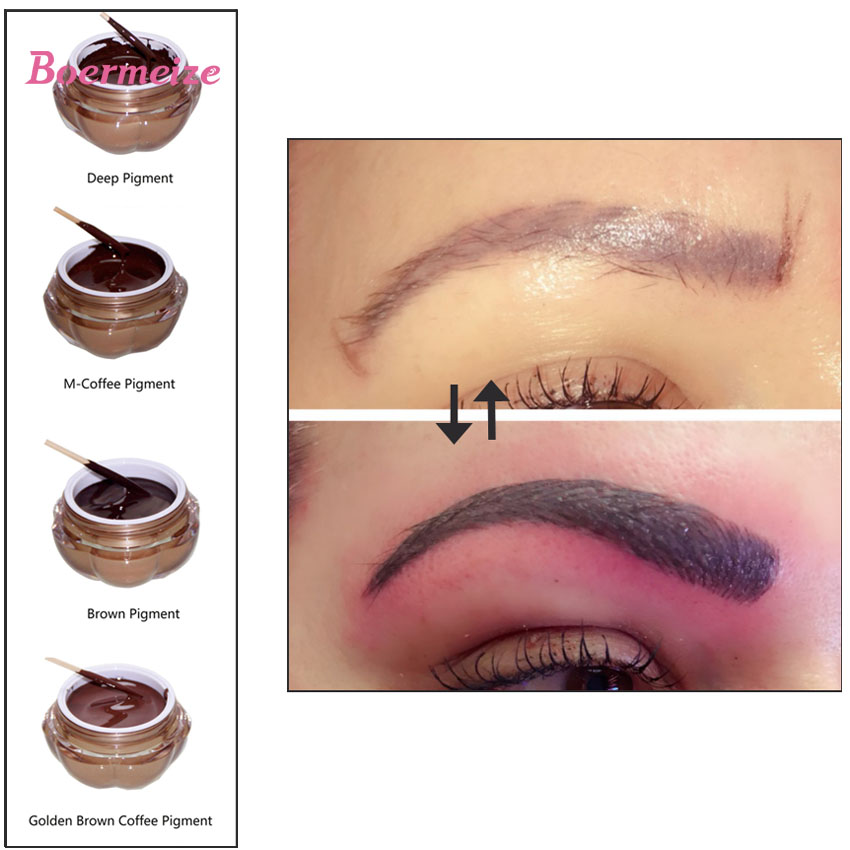 Tattoo Ink Pigment For Permanent Makeup Eyebrow Eyeliner Lip Body Tattoo Art 4 Colors For Choosing Beauty Tools Tattoo Supplies