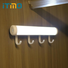 iTimo Motion Sensor Cabinet Lamp Rotatable Home Night Light Bar Led Wall Lights Wireless