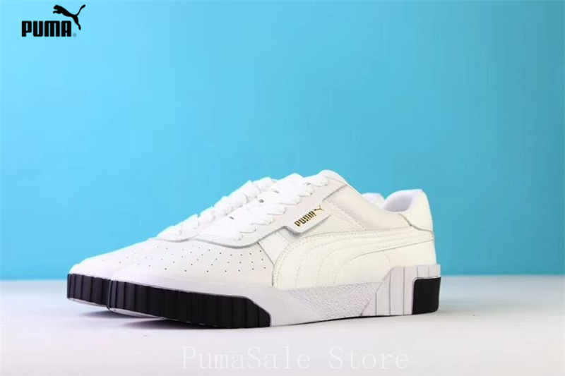 ... PUMA Women s Cali Sneaker 369155-04 Rihanna Basket Platform Euphoria  Metal Women Badminton Shoes White 59ea1837a68a