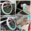 New Cartoon Elephant Styling Winter Warm Skidproof Plush Soft Fur Car Steering Wheel Cover Accessories Hub Interior Package