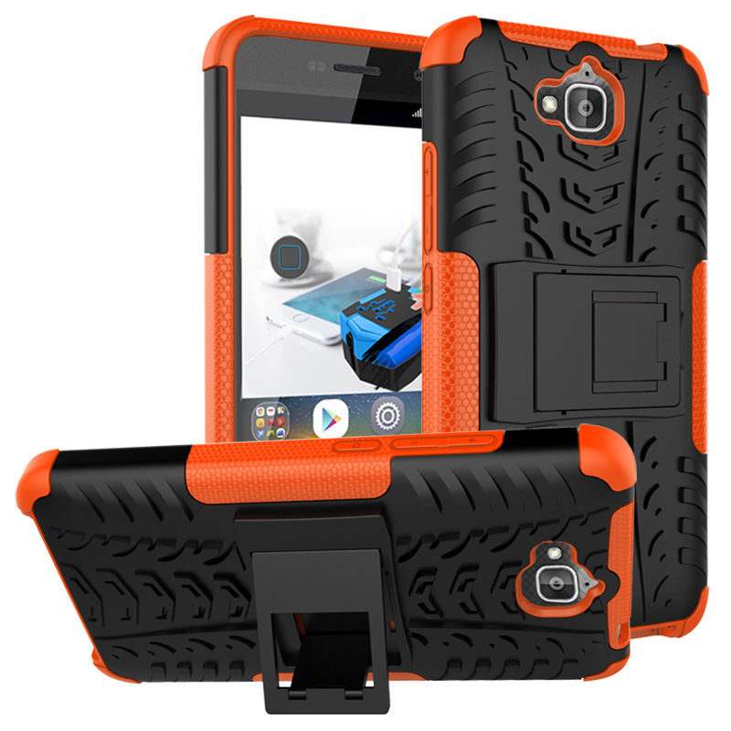 2 In 1 Heavy Duty Rugged Armor Tire Style Hybrid TPU PC Hard Stand Case For Huawei Enjoy 5/Holly 2 Plus/Honor Play 5X/Y6 Pro