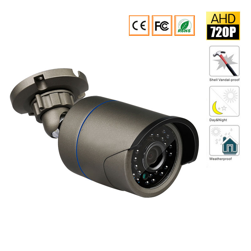 AHD 720P 1200TVL Bullet CCTV Camera 1280*720 1.0MP Waterproof IR-Cut Night Vision Camera For Surveillance System Kit