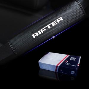 Image 5 - עבור Peugeot Rifter רכב חגורת בטיחות כתף רצועת להגן רפידות כיסוי לא להחליק לא שפשוף רך נוחות 2 Pcs אדום כחול לבן