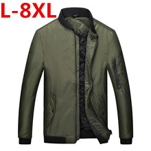 2017 new plus size 8XL 7XL  Polyester Winter Jackets And Coats Thick Warm Fashion Casual Handsome Young Men Parka Fit Snow Cold