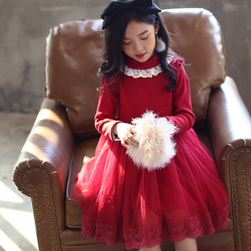 Girls Dresses Thicken Warm Velvet Winter Evening Party Dress Children Clothes Kids Princess Dress For Girls Long Sleeve Costume winter baby dress long sleeve velvet ruffles dresses for princess girl clothing party dance weeding dress of teen girls clothes