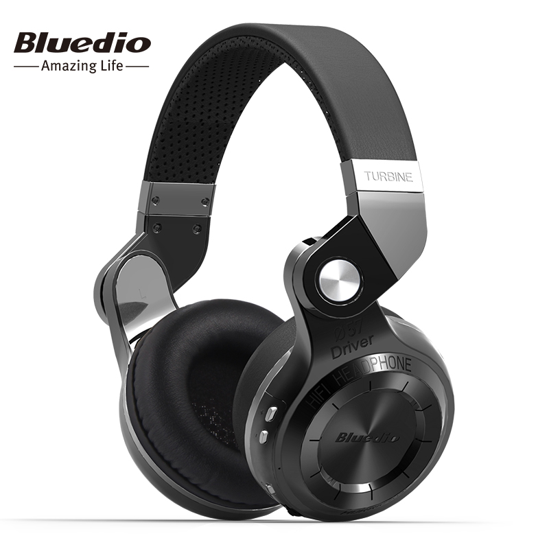 Bluedio T2S Bluetooth Cuffia Senza Fili Pieghevole Auricolare Con Bass E Built-In Microfono Per Smartphone auricolari originali