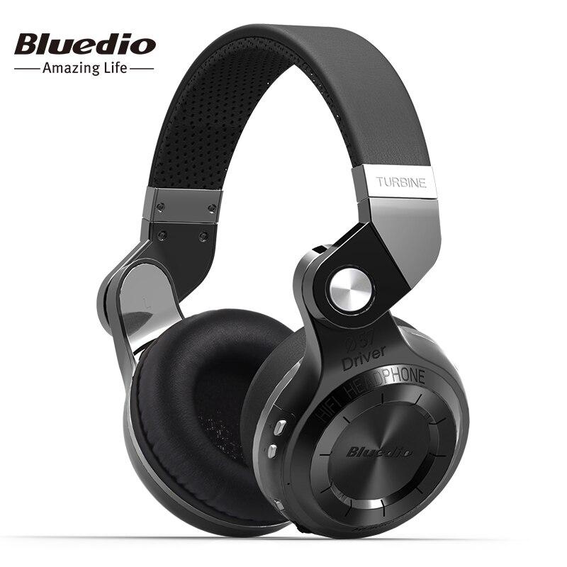 Bluedio original T2S auricular inalámbrico Bluetooth plegable Bass auriculares con micrófono para teléfono inteligente cómodo