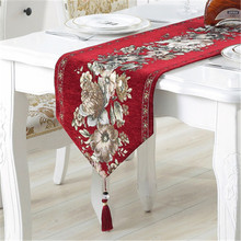 SBB modern Europe luxury thickening chenille Table Runners classical Retro Chinese style Home Decoration Fashion West table flag