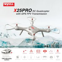 Syma X25 PRO 2.4G GPS FPV Professional RC Drone Quadcopter 720P HD Wifi Adjustable Camera Altitude Hold kids drone Gifts bateria