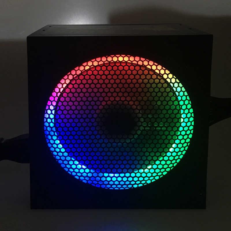 700 W PSU ATX Power Supply untuk Desktop 12 V PFC DC Power Supply 700 W dengan Lampu LED 850 W Daya Tegangan untuk PC Gamer LOL PSU