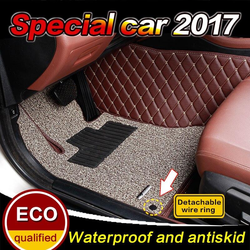 Custom fit Car floor mats for Hyundai I30 I25 creta I35 solaris Sonata Grand SantaFe 2004-2017 car floor carpet Liners MATS