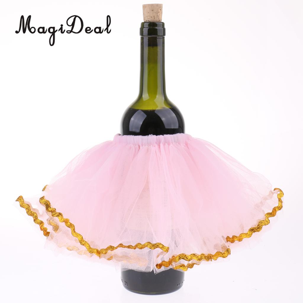 c3943069aa 3pcs Tulle Wine Bottle Tutu Skirt Bottle Dress Up Wedding Table Decoration-in  Party DIY Decorations from Home & Garden on Aliexpress.com | Alibaba Group