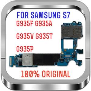 Image 2 - مع نظام أندرويد ، لوحات منطق أصلية غير مقفلة 100% لهاتف سامسونج جالاكسي S7 edge G935FD اللوحة الأم مع بطاقة Sim المزدوجة