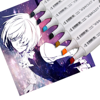 TOUCHNEW 80 Colors Anime Drawing Marker Design Dual Head Sketch Markers Set For Manga Marker School Supplies stabilo marker pen