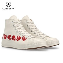 Converse X CDG PLAY New Arrival Men Skareboarding Shoes Red Heart Comfortable Outdoor Sports Sneakers Women #162972C