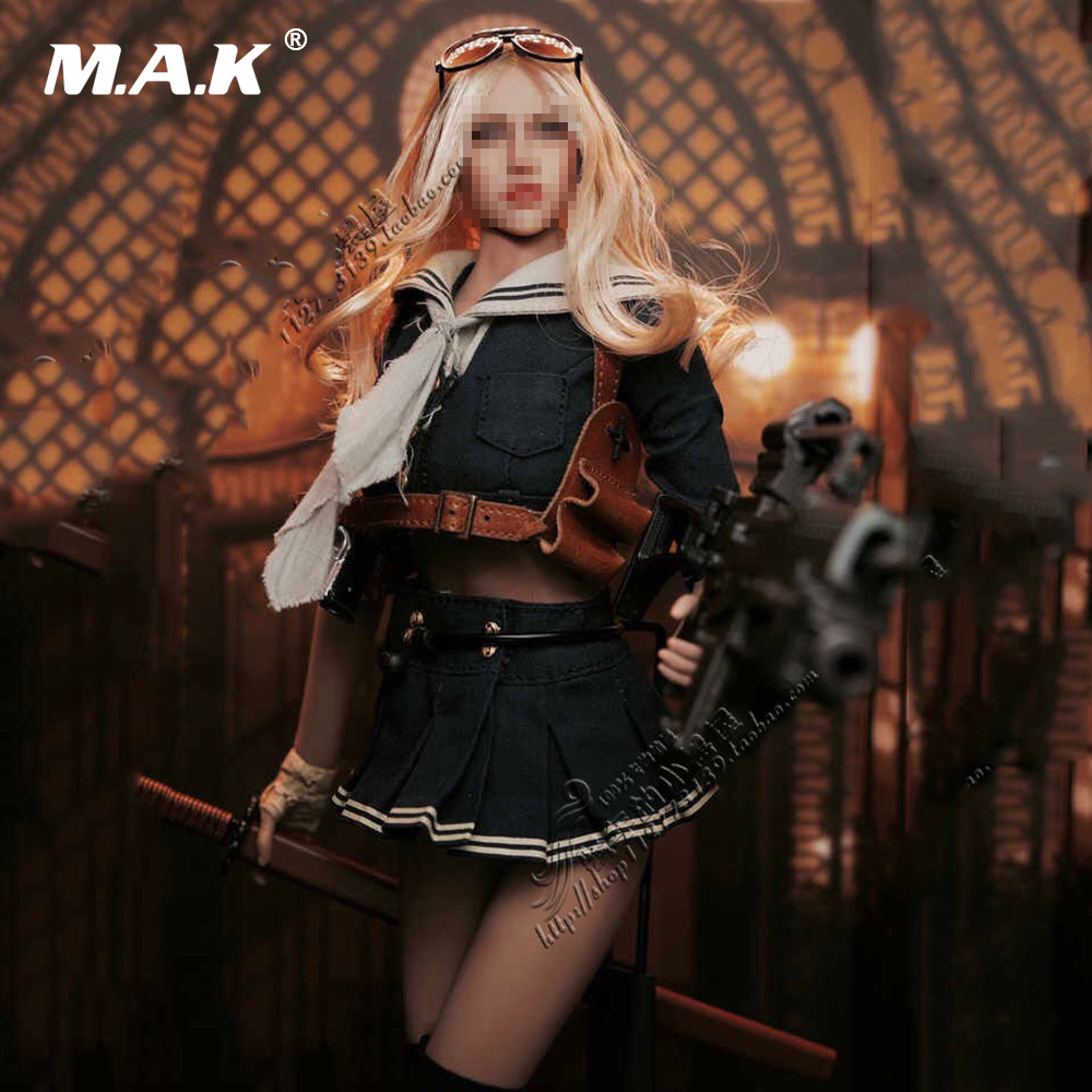 1/6 Scale 12 Figures Female Sailor Suit Sucker Punch Baby Doll Clothes & Shoes & Weapon Set for 12 inches Action Figure Body 1 6 scale figure doll clothes male batman joker suit for 12 action figure doll accessories not include doll and other 1584
