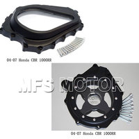 Motorcycle Parts Glass See Through Engine Clutch Stator Covers For Honda 2004 2005 2006 2007 CBR