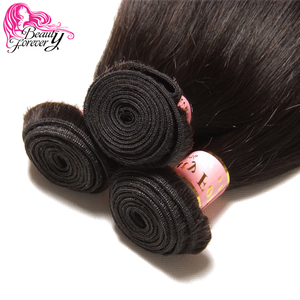 Image 5 - Beauty Forever Brazilian Hair Straight Weaving 3 Bundles Remy Human Hair Weave Bundles Natural Color Free Shipping