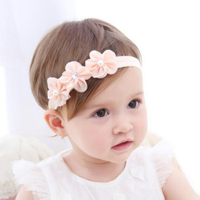 1 UNID Mini 3 Flores Chic Flower Rhinestone de La Perla Bandas Para ...