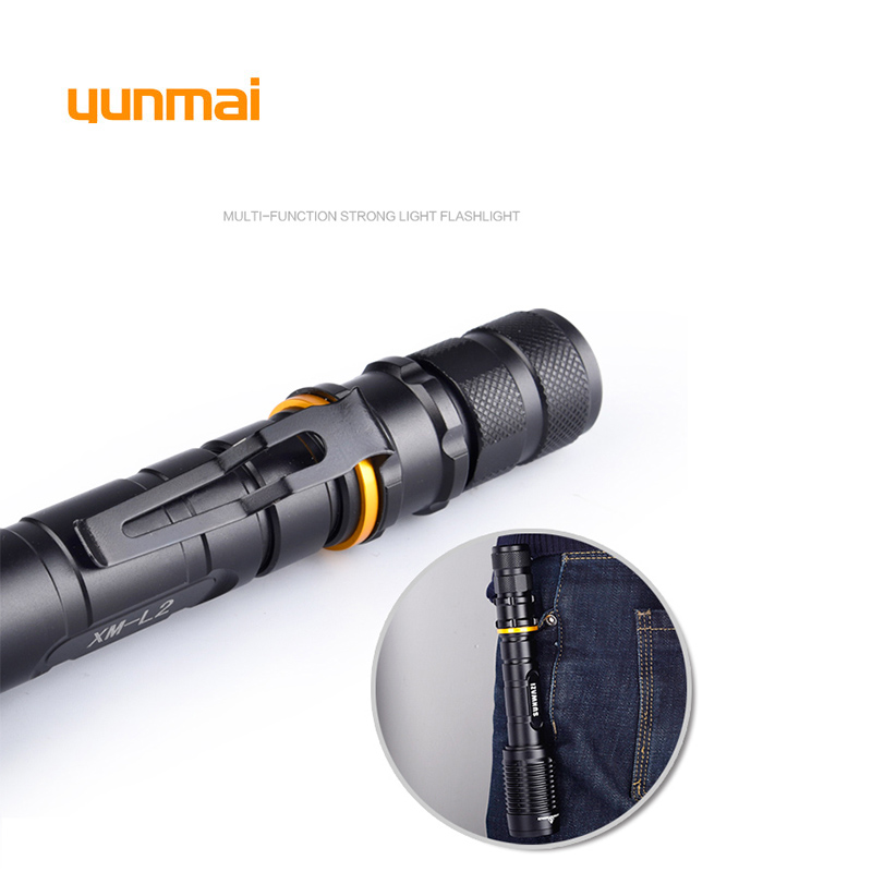 Bright LED Flashlight 18650 zoom torch waterproof NEW XM L2 6000LM 5 mode led Zoomable light by Rechargeable 2 18650 Battery in Flashlights Torches from Lights Lighting