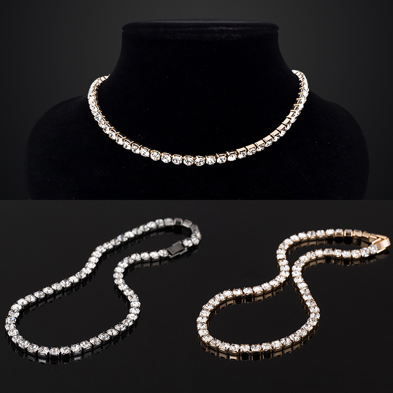 Luxury Sparkling Charms Choker Necklaces Ladies Gifts Statement Necklace Cubic Zirconia For Women Brand Jewelry Accessories