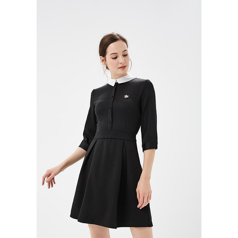 Dresses MODIS M182W00206 dress cotton clothes apparel casual for female for woman TmallFS dresses befree 1731067548 woman dress cotton long sleeve women clothes apparel casual spring for female tmallfs