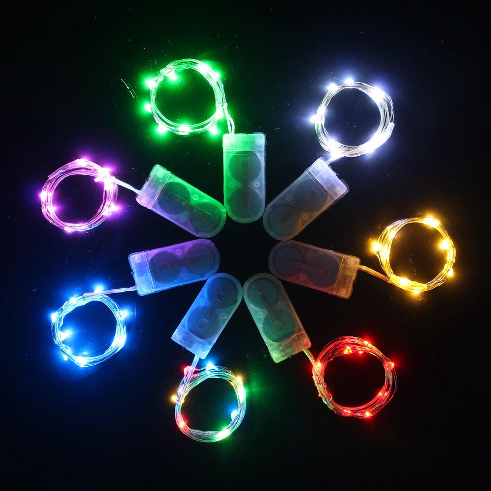 Waterproof Fairy Light CR2032 Battery Powered LED Mini Christmas Light Copper Wire String Light For Wedding Xmas Garland Party
