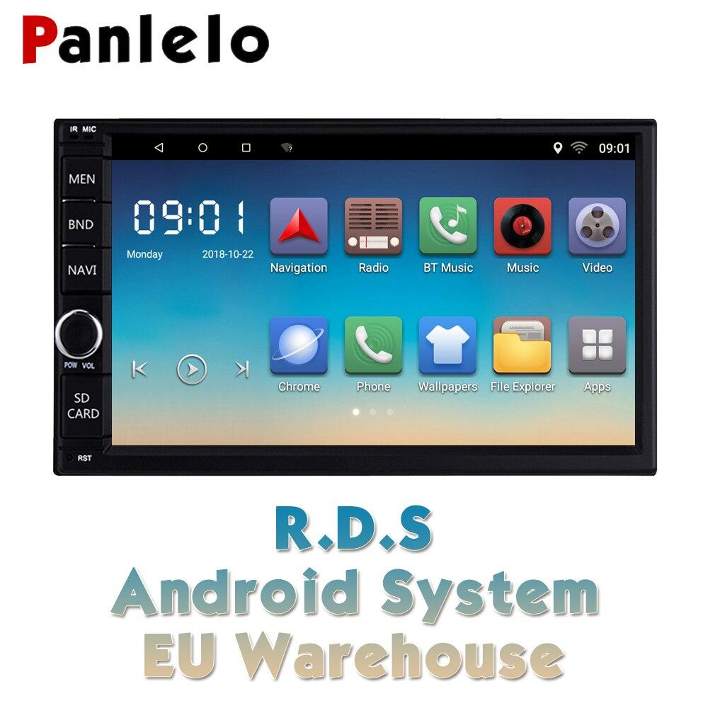 Panlelo 2 Din Автомобильный Радио gps проигрыватель Android 7 дюймов Авторадио встроенный Wifi RDS радио Doble Din Android для Honda Toyota hyundai