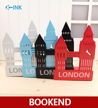 Metal London Big Ben Bookends , Simple Style Desk Book Organizer as Book Stand london sticker book