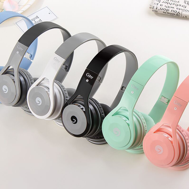 Luxury Candy color Headband Stereo Headphones w/ Microphone Portable Wired Headset for Girls Mobile Phone iPhone Samsung Gift