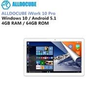 ALLDOCUBE IWork 10 Pro 2 дюймов 1 планшетный ПК Intel Atom X5-Z8350 4 Гб оперативная память 64 Встроенная IPS-экран, 10,1 ″ * 1920 1200 Windows10 Android 5,1