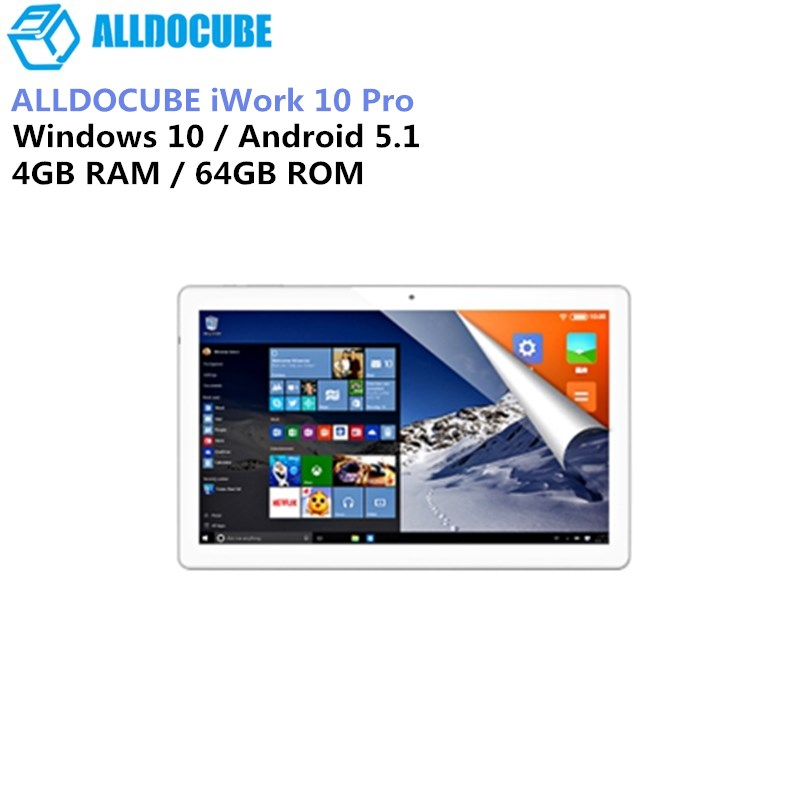 ALLDOCUBE IWork 10 Pro 2 pulgada 1 Tablet PC Intel Atom X5-Z8350 4 GB Ram 64 GB Rom 1920*1200 IPS 10,1 pulgadas Windows10 Android 5,1