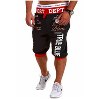 2017 New Summer Style Men Letters Shorts Men Casual Slim Fit Shorts Beach Brand Shorts Sports