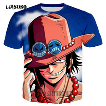 LIASOSO Hot Men T Shirt Classic Anime One Piece Joba T-shirts 3D Print Tshirt Pullover Tops Tees Shirts Brand Clothing T3259(China)