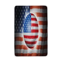 American Flag Soccer Football Blanket Soft Warm Cozy Bed Couch Lightweight Polyester Microfiber Blanket