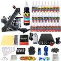 Solong Bobina de Tatuagem Kit Pro Handmade metralhadoras tattoo power pé abastecimento pedal agulha aperto dica & conjunto de tinta TKA02-CN