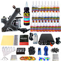 Solong Tattoo Kit Pro Espiral Hecha A Mano ametralladoras del tatuaje de potencia foot pedal supply apretón de la aguja consejo & ink set TKA02-CN