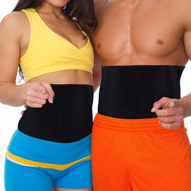 PRAYGER Neoprene Slimming Sauna Waist Cinchers Men Slimming Belt Tummy Trimmer Band  Shapewear Belt 3