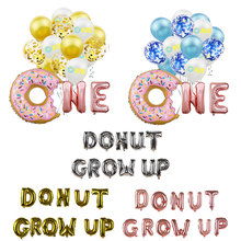 1Set Baby Boy/Girl Sweet Donut One Foil Balloon Children 1st Birthday Party Shower Wild Grow Up Supplies